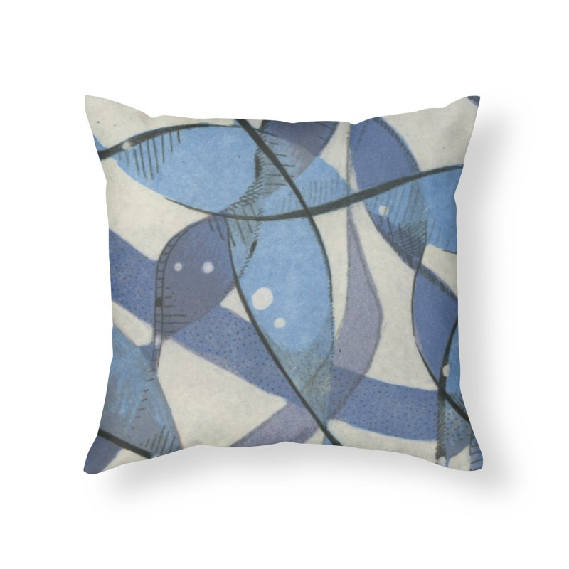 Blue Pattern in Throw Pillow by jkempain's Artist Shop