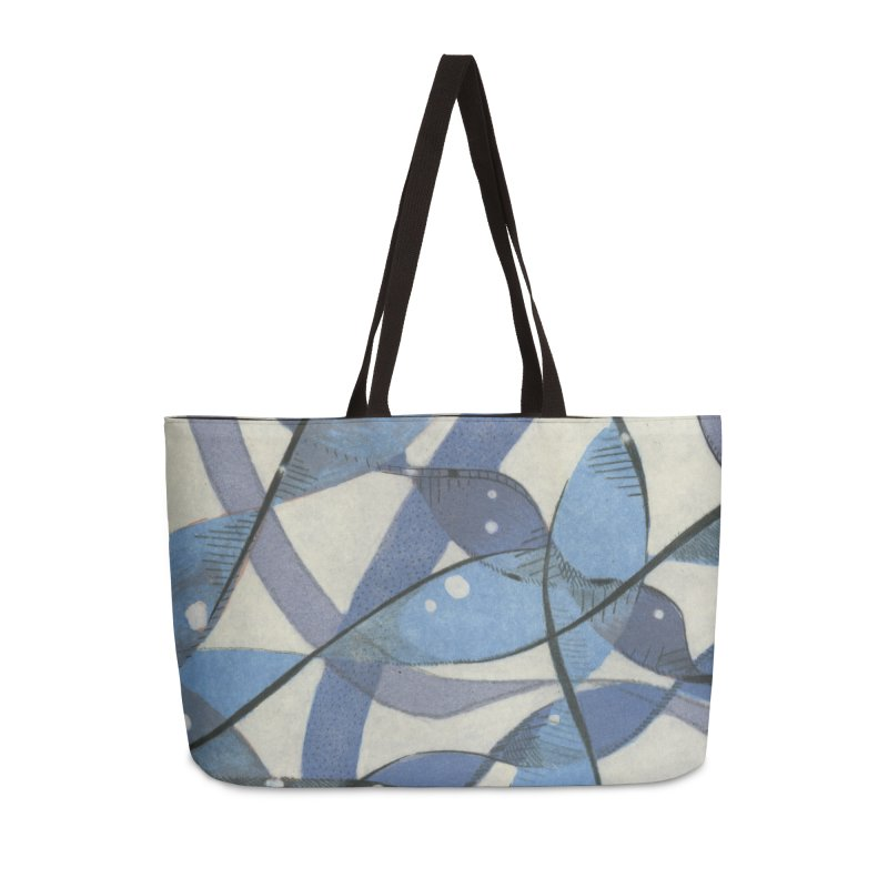 Blue Pattern Accessories Weekender Bag Bag by jkempain's Artist Shop
