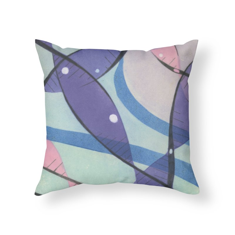 Purple & Pink Home Throw Pillow by jkempain's Artist Shop