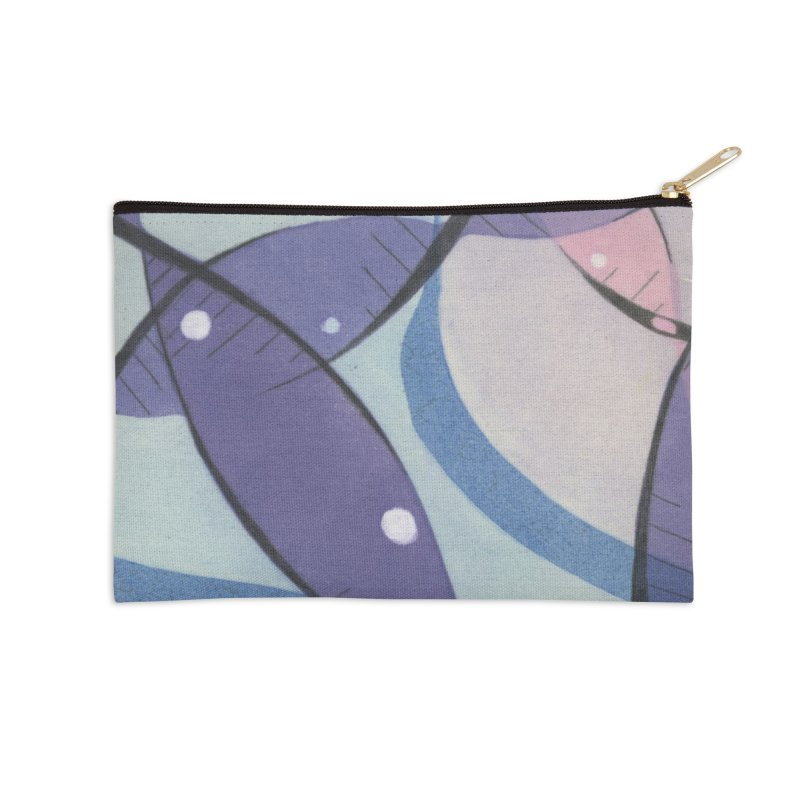 Purple & Pink Accessories Zip Pouch by jkempain's Artist Shop