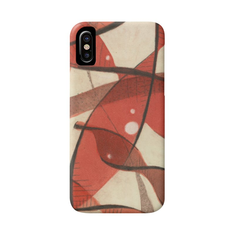 Red Accessories Phone Case by jkempain's Artist Shop