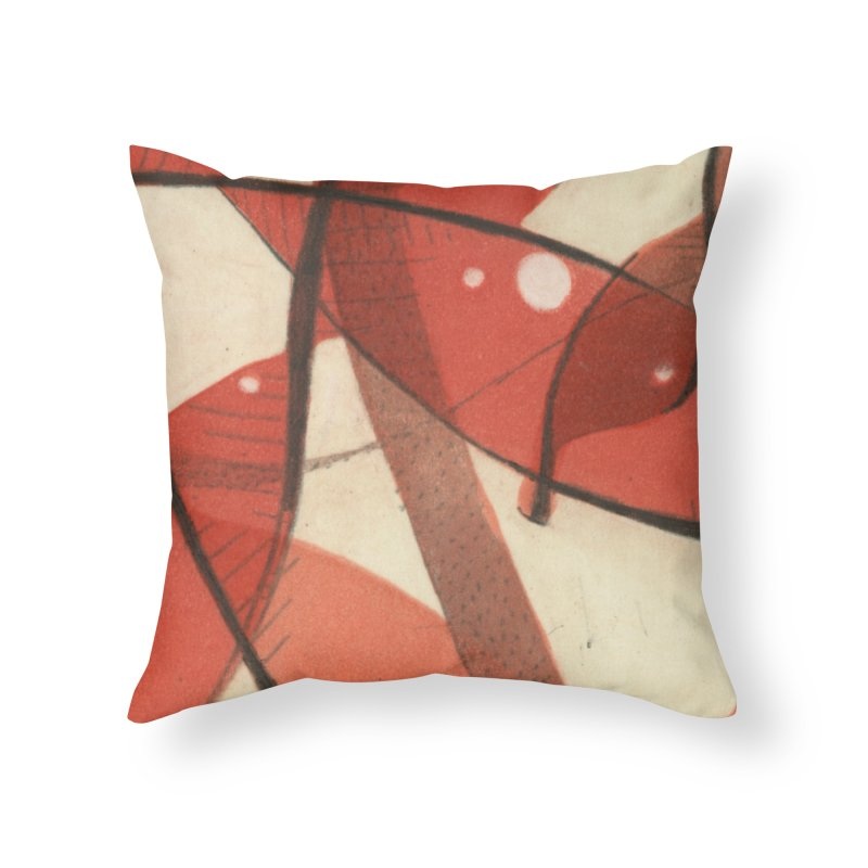 Red Home Throw Pillow by jkempain's Artist Shop