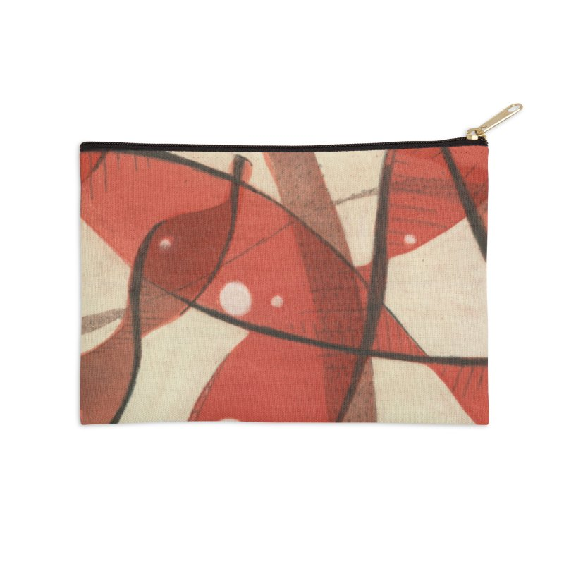 Red Accessories Zip Pouch by jkempain's Artist Shop