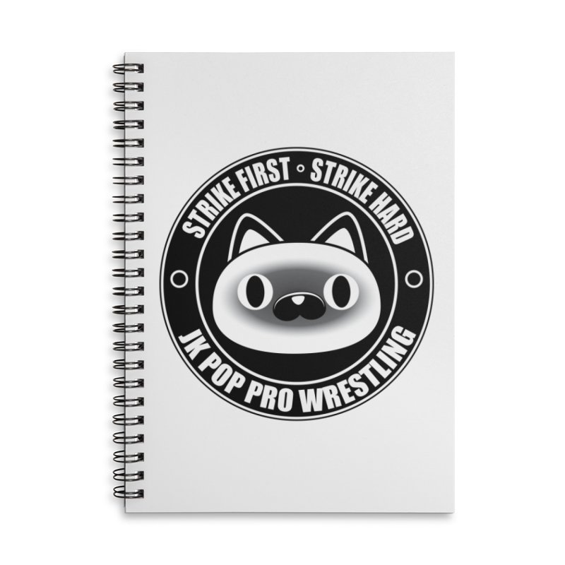 Japan Logo Accessories Lined Spiral Notebook by jkpopprowrestling's Artist Shop
