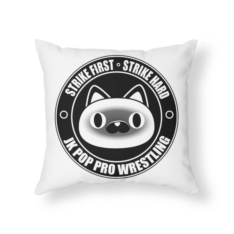 Japan Logo Home Throw Pillow by jkpopprowrestling's Artist Shop