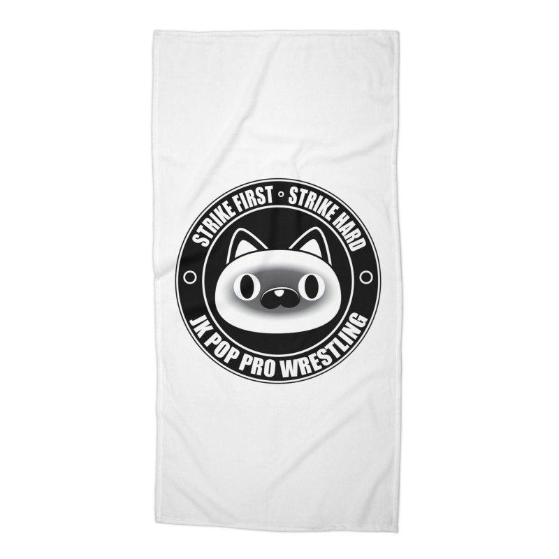 Japan Logo Accessories Beach Towel by jkpopprowrestling's Artist Shop