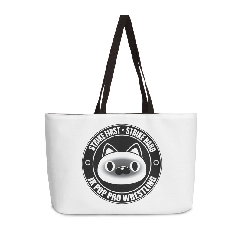 Japan Logo Accessories Weekender Bag Bag by jkpopprowrestling's Artist Shop