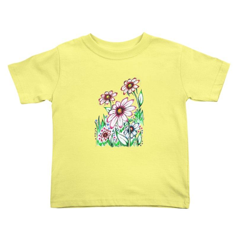 """Wildflowers"" (Original)  Kids Toddler T-Shirt by J. Lavallee's Artist Shop"