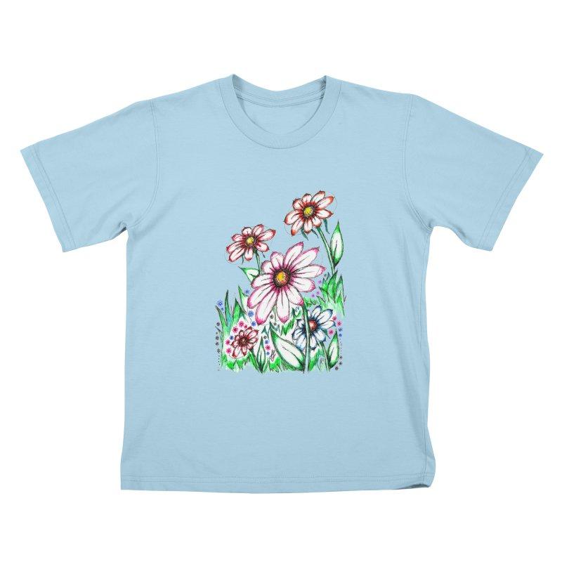 """Wildflowers"" (Original)  Kids T-Shirt by J. Lavallee's Artist Shop"