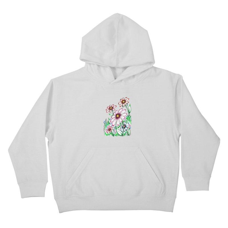 """""""Wildflowers"""" (Original)  Kids Pullover Hoody by J. Lavallee's Artist Shop"""