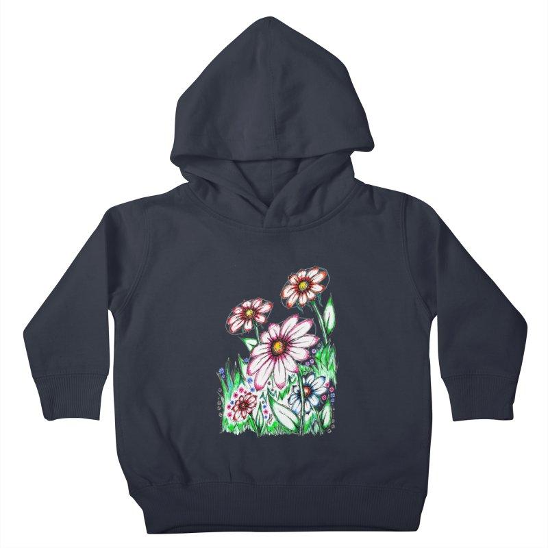 """Wildflowers"" (Original)  Kids Toddler Pullover Hoody by J. Lavallee's Artist Shop"