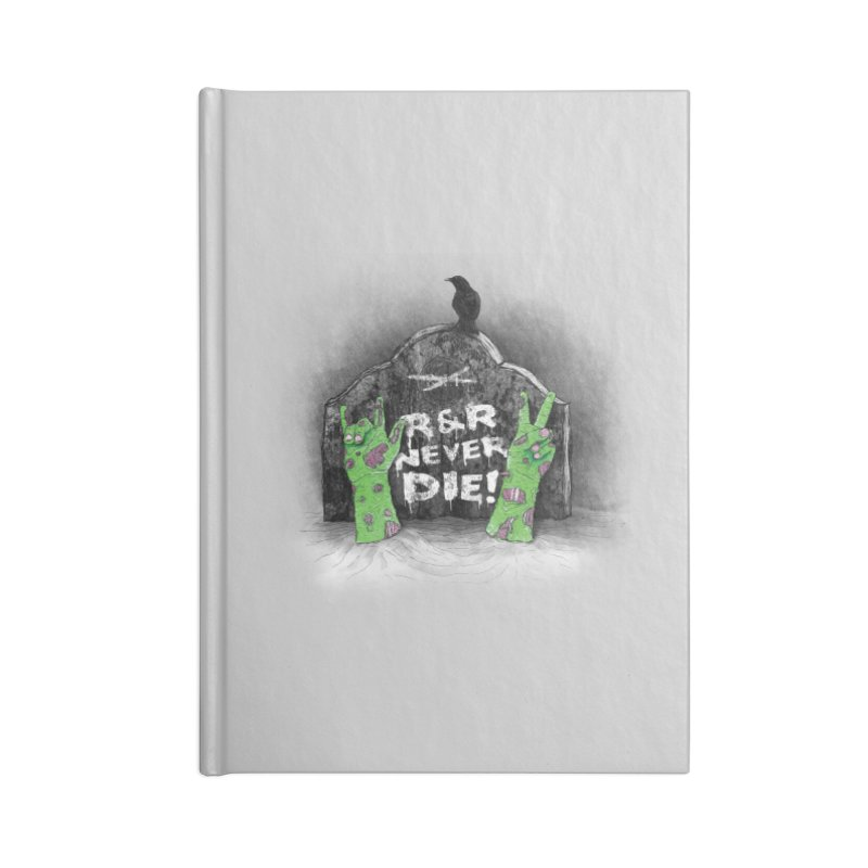 R&R never dies Accessories Blank Journal Notebook by magicmagic