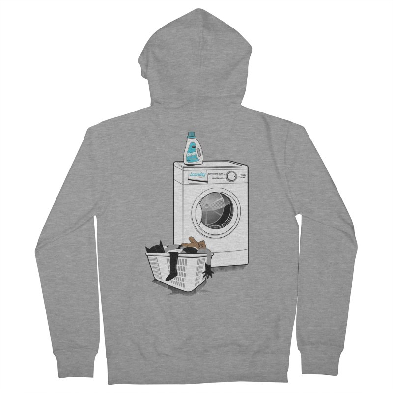 Laundry time Men's Zip-Up Hoody by MagicMagic Artist Shop