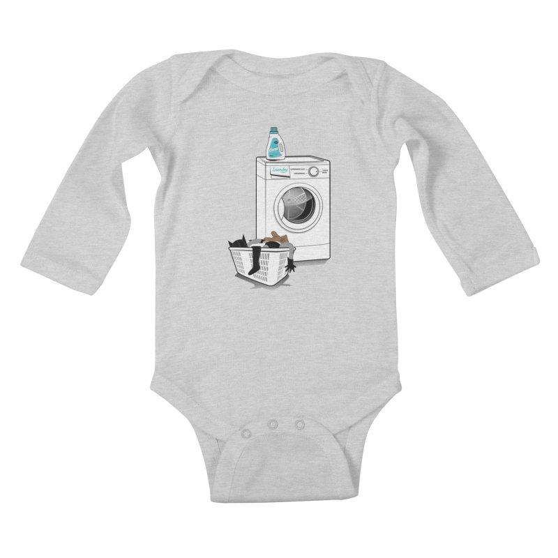 Laundry time Kids Baby Longsleeve Bodysuit by MagicMagic Artist Shop