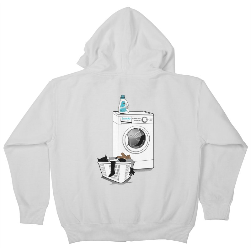 Laundry time Kids Zip-Up Hoody by MagicMagic Artist Shop