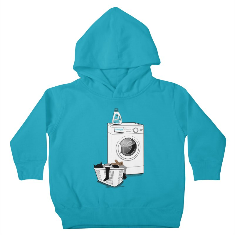 Laundry time Kids Toddler Pullover Hoody by MagicMagic Artist Shop