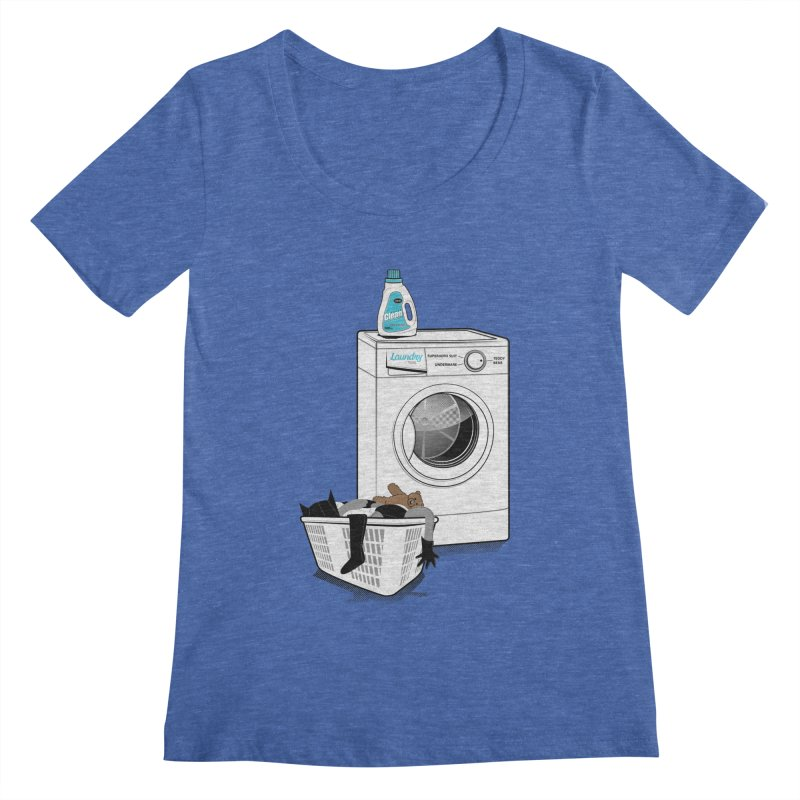 Laundry time Women's Scoopneck by MagicMagic Artist Shop
