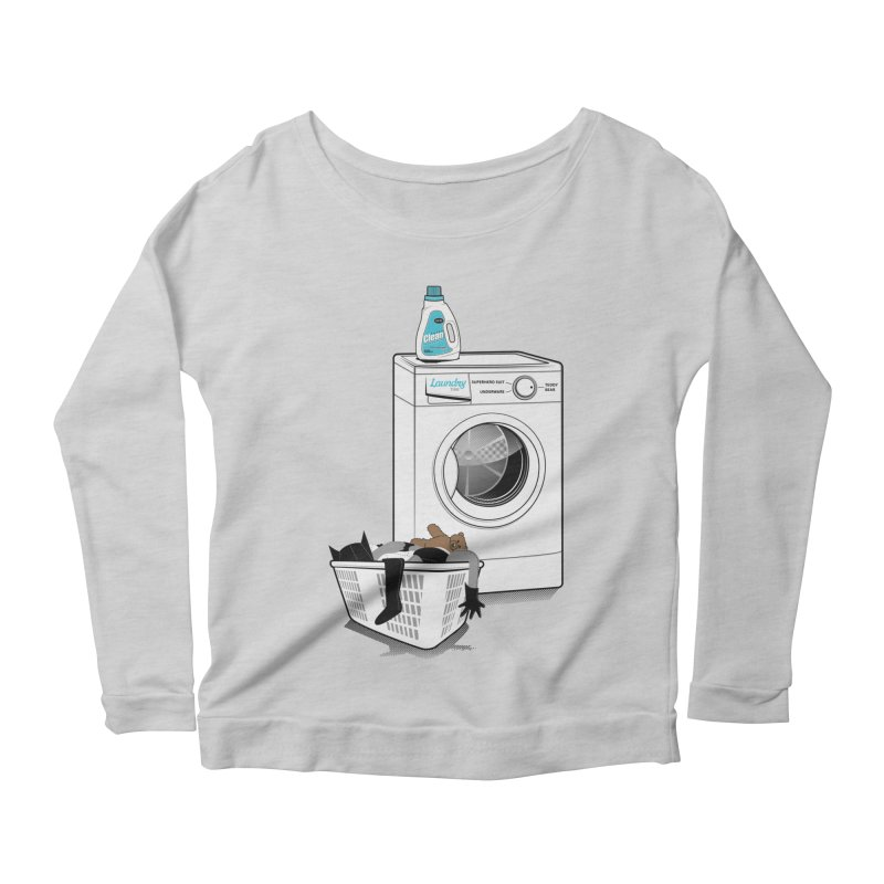 Laundry time Women's Longsleeve Scoopneck  by MagicMagic Artist Shop
