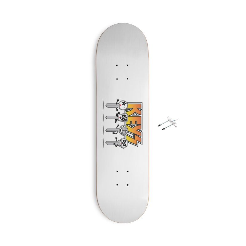 Keys Accessories With Hanging Hardware Skateboard by magicmagic