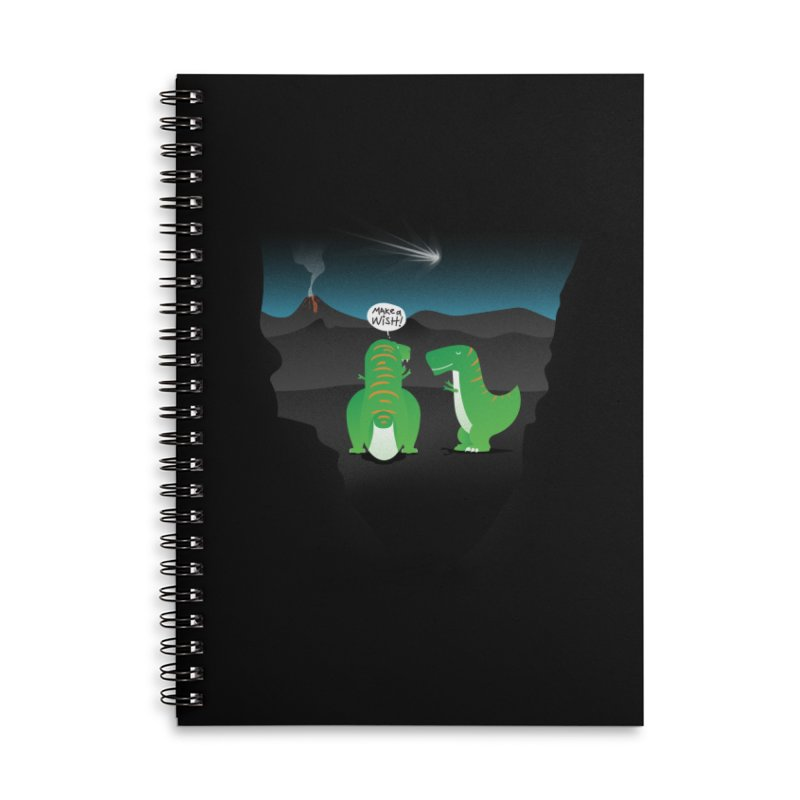 Make a wish Accessories Lined Spiral Notebook by magicmagic