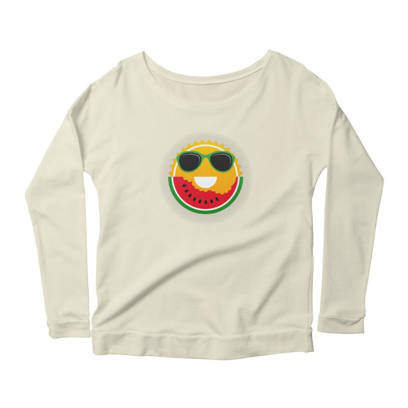 Sunny and tasteful Women's Longsleeve Scoopneck  by MagicMagic Artist Shop
