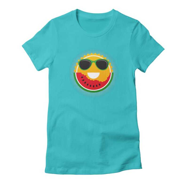 Sunny and tasteful Women's Fitted T-Shirt by MagicMagic Artist Shop