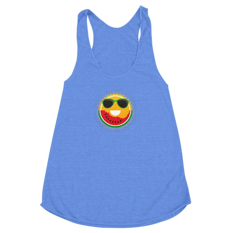 Sunny and tasteful Women's Racerback Triblend Tank by MagicMagic Artist Shop