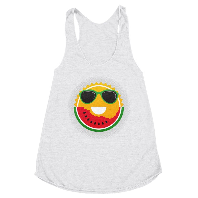 Sunny and tasteful Women's Racerback Triblend Tank by magicmagic
