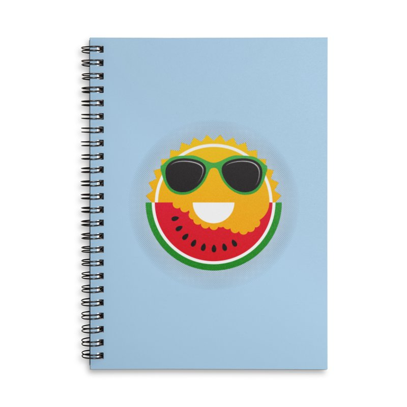 Sunny and tasteful Accessories Lined Spiral Notebook by magicmagic