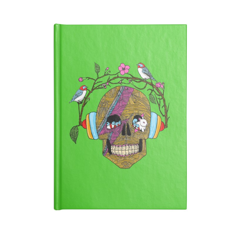Life Accessories Lined Journal Notebook by magicmagic