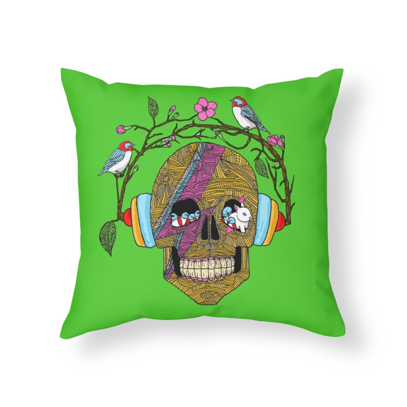 Life Home Throw Pillow by magicmagic