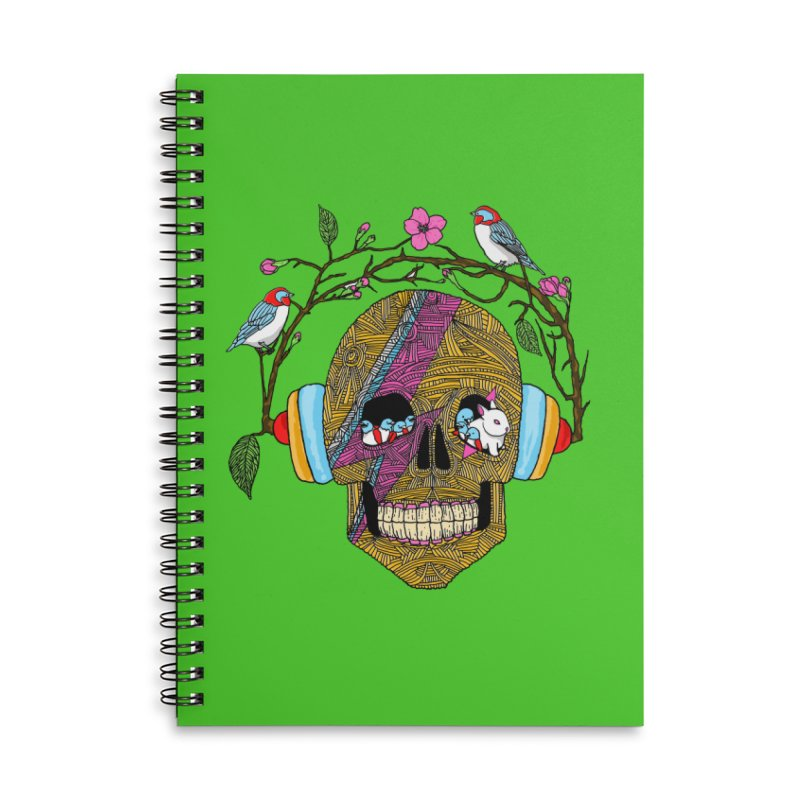 Life Accessories Lined Spiral Notebook by magicmagic