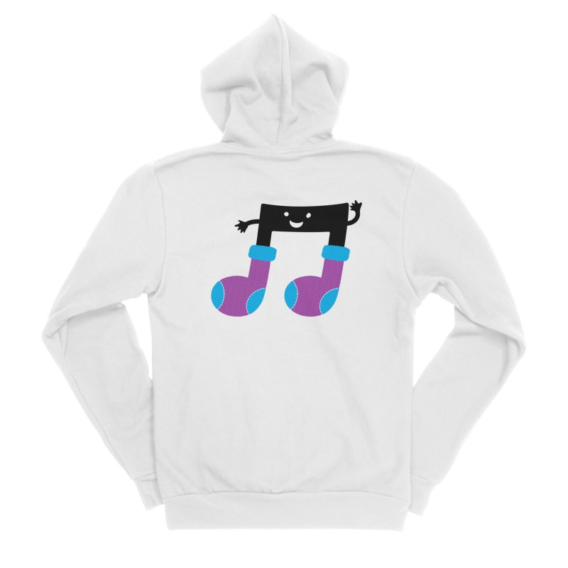 Warm music Women's Sponge Fleece Zip-Up Hoody by magicmagic