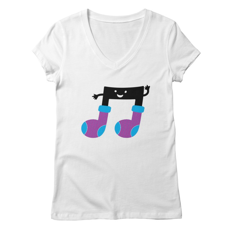 Warm music Women's Regular V-Neck by magicmagic
