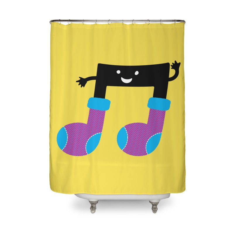 Warm music Home Shower Curtain by MagicMagic Artist Shop