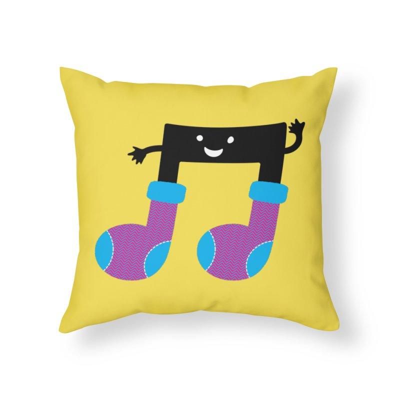 Warm music Home Throw Pillow by magicmagic