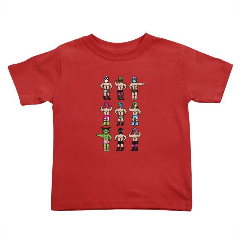 Wrestling maniacs Kids Toddler T-Shirt by MagicMagic Artist Shop