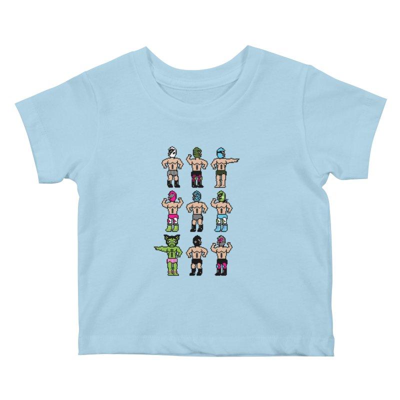 Wrestling maniacs Kids Baby T-Shirt by magicmagic