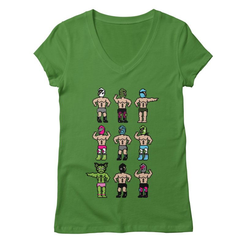 Wrestling maniacs Women's V-Neck by MagicMagic Artist Shop