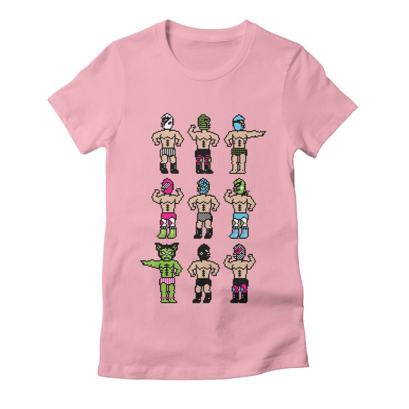 Wrestling maniacs Women's Fitted T-Shirt by MagicMagic Artist Shop