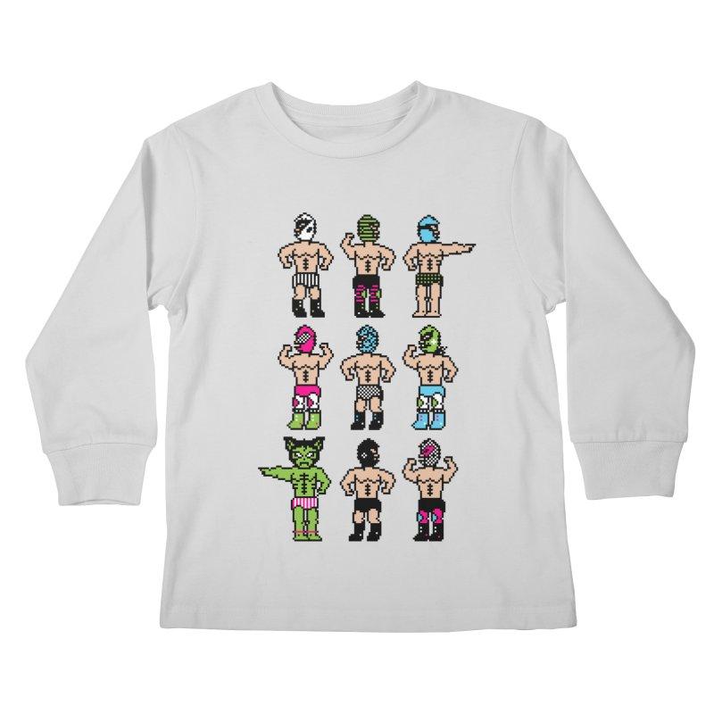Wrestling maniacs Kids Longsleeve T-Shirt by MagicMagic Artist Shop
