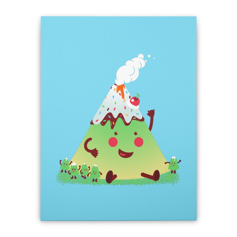 The Hill-arious Home Stretched Canvas by MagicMagic Artist Shop