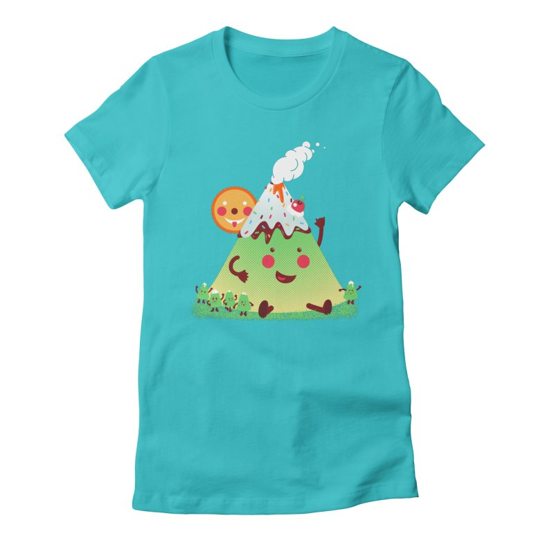 The Hill-arious Women's Fitted T-Shirt by MagicMagic Artist Shop