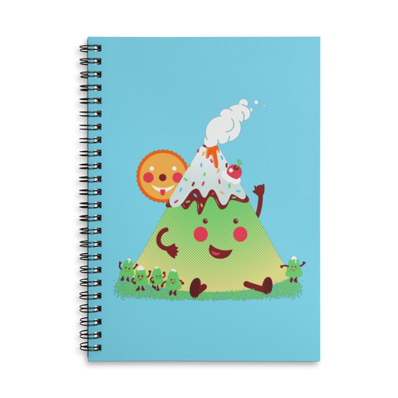 Hill parade Accessories Lined Spiral Notebook by magicmagic