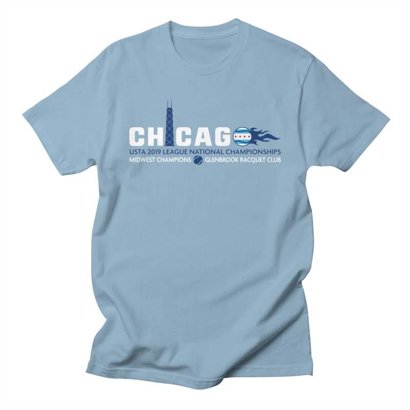Midwest Champs in Men's Regular T-Shirt Light Blue by jmac