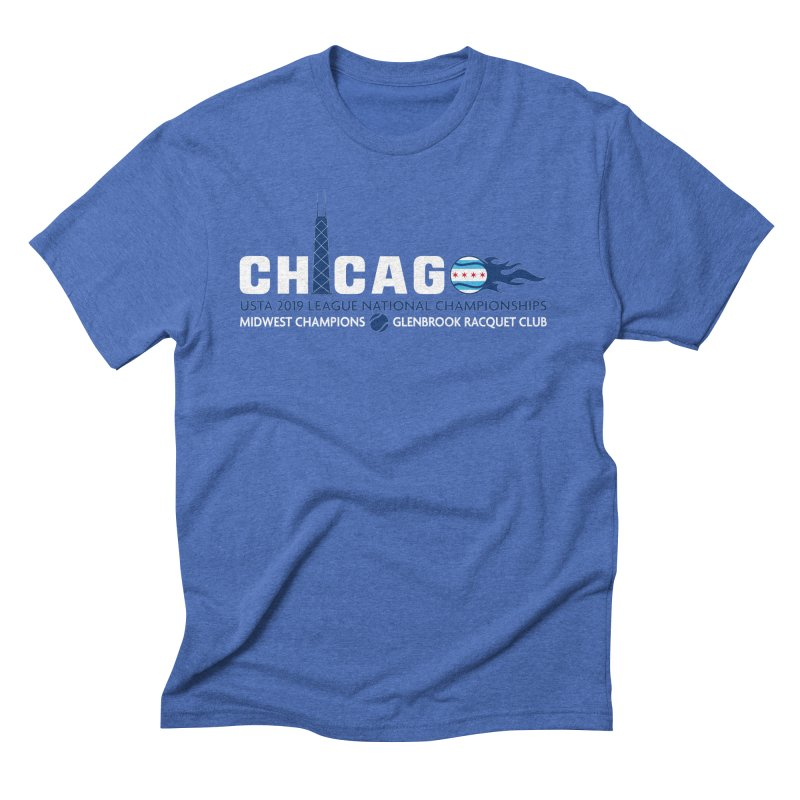 Midwest Champs in Men's Triblend T-Shirt Blue Triblend by jmac