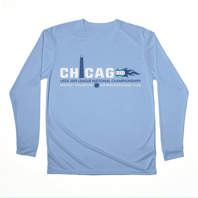 Midwest Champs in Men's Performance Longsleeve T-Shirt Bimini Blue by jmac