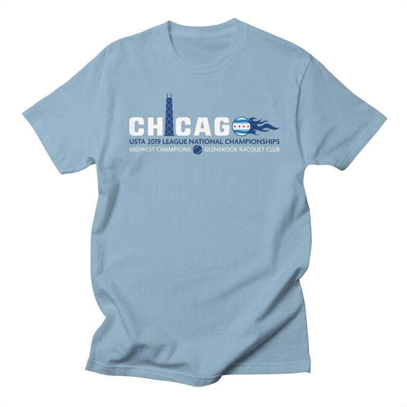 Midwest Champs in Women's Regular Unisex T-Shirt Light Blue by jmac