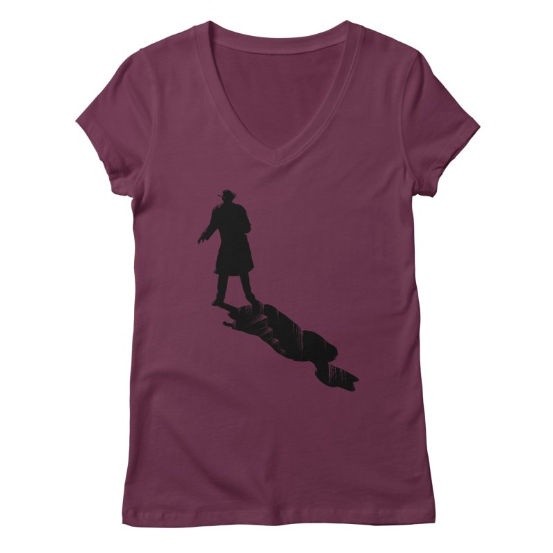 The 2nd Man Women's V-Neck by jmg's Artist Shop