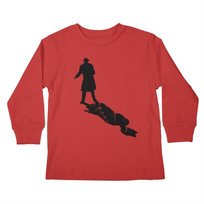 The 2nd Man Kids Longsleeve T-Shirt by jmg's Artist Shop